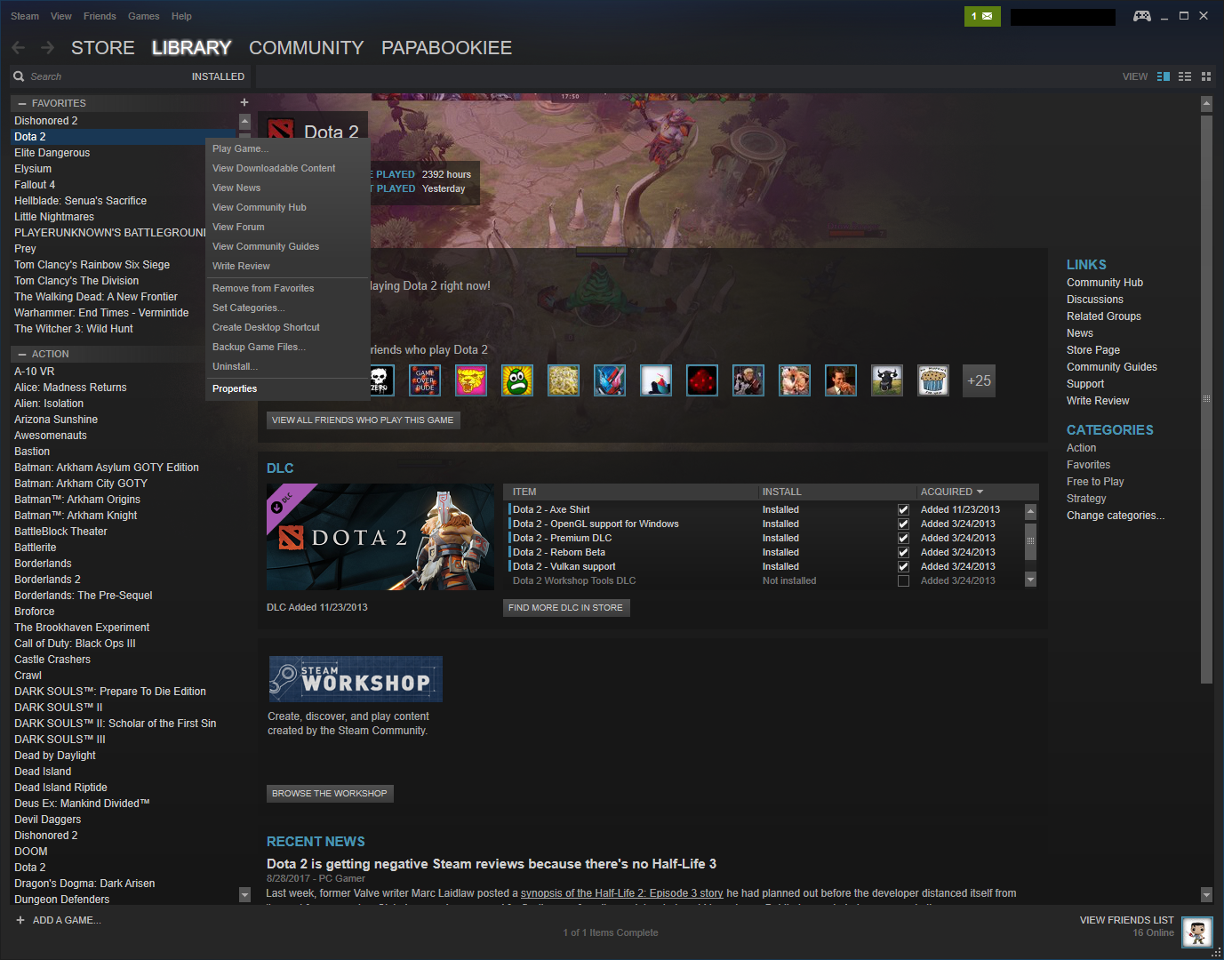 what is vulkan support dota 2